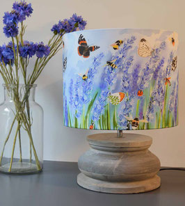 Lavender Meadows Bee and Butterfly Lampshade