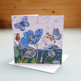 Himalayan Poppies Greeting Card