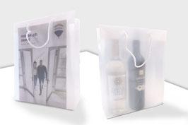 Transparente Kunststoff-Tragtasche klein