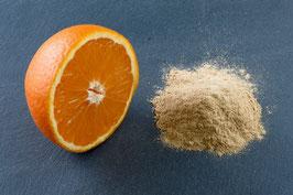 Orangenschalen, fein gemahlen