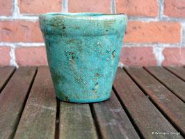 Übertopf  grün 13,5 cm mittel