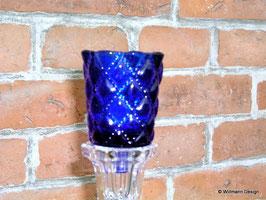 Kerzeneinsatz Windlicht blau