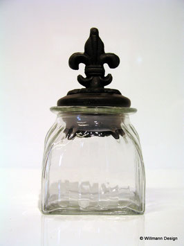 Vorratsglas mit Metalldeckel klein