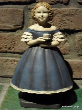 Mädchen Kerzenhalter blau