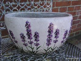 Übertopf Lavendel oval