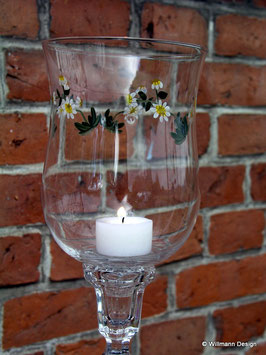 Kerzeneinsatz Windlicht, bemalt
