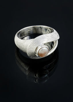 Silber Perl Ring