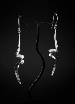 Ohrhänger Silber Eismatt/Glänzend