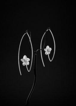 Ohrhänger Blume Perle
