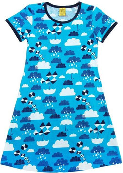 Kurzarm Kleid 'More than a FLING' Wolken Blau