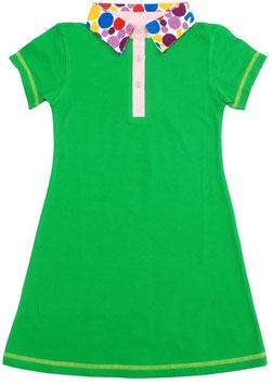 Kurzarm Kleid 'DUNS' Grün Punkte