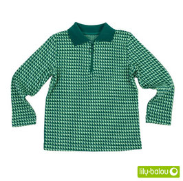 "Shirt 'Lily Balou' - ""Hector"" Triangles Green"