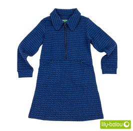 "Kleid 'Lily Balou' - ""Nena"" Triangles blau"
