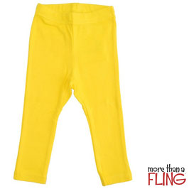 Leggings  'more than a Fling' Gelb