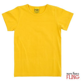 T-Shirt  'more than a FLING' Gelb