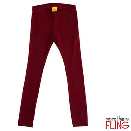 Leggings  'more than a Fling' Wine