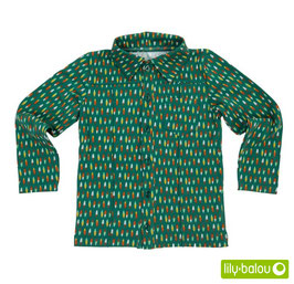 "Shirt 'Lily Balou' - ""Guust"" Feathers Green"