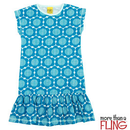 Kleid 'More than a FLING' Blumen Blau