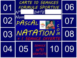 CARTE 10 SEANCES FORMULE SPORTIVE