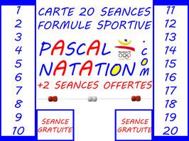 CARTE 20 SEANCES FORMULE SPORTIVE