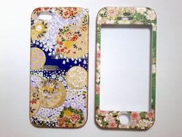 和柄のスマートフォンケース 両面タイプ iPhone5                      手毬と桜の模様