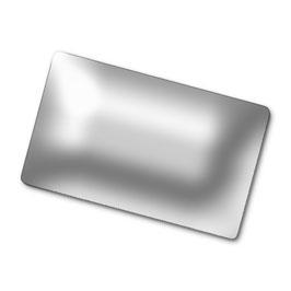 Visitenkartenbox / 48 Aluminiumvisitenkarten 0,45 mm / Visitenkartenständer Gross  Paket