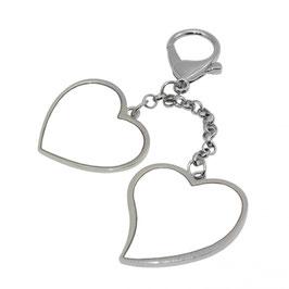 Schlüsselanhänger zwei Herzen