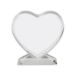 Glas-Sublicryl Herz mit Aufsteller