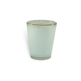 Schnapsglas,  Satiniert,  mit goldenem Rand    4 Stk.