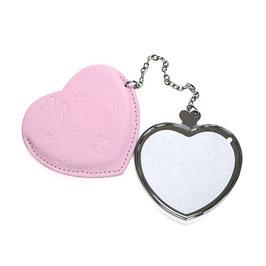 Spiegel, Herz, Pink Etui