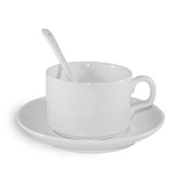 Kaffeetasse inkl. Untertasse und Löffel
