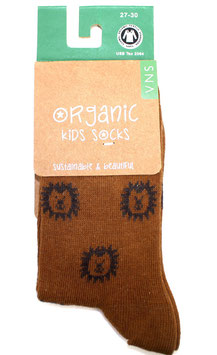 Organic Kids Socks- Brauner Löwe