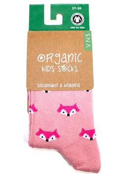 Organic Kids Socks- rosa Fuchs