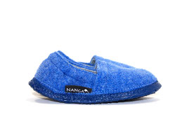 Nanga Wollwalk Hausschuh - Lenny Jeansblau