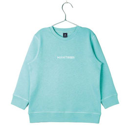 Manitober Biobaumwoll Sweatshirt Smiley - Mint