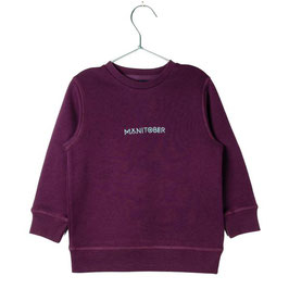 Manitober Biobaumwoll Sweatshirt Smiley - Bordeaux