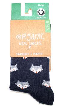 Organic Kids Socks- blauer Fuchs