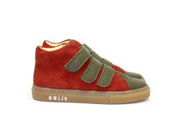 Dulis hoher Ledersneaker - KD110440/A Olive Muskat