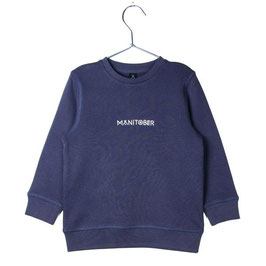 Manitober Biobaumwoll Sweatshirt Smiley - Blau