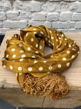 foulard jaune a poids blanc