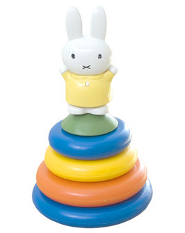 90er Miffy Stapelturm mit Rassel