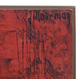 60er Wandbild Jaklien Moerman Junge mit Hosenträgern