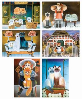 80er Grußkarten im 6er Set von Marlis Hoops