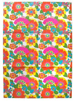 "70er Geschenkpapier Bogen Susy Card ""Flowers"""