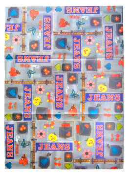 "70er Geschenkpapier Bogen Susy Card ""Jeans"""