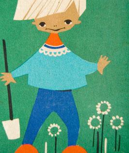 60er Agnes Kinderbild Junge mit Schaufel