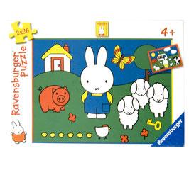 Miffy bei den Tieren Puzzle Ravensburger 2 x 20 Teile