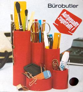 70er Büro Butler Utensilo Braun OVP