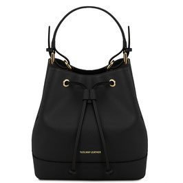 Tuscany Leather Minerva Leather Bag Black