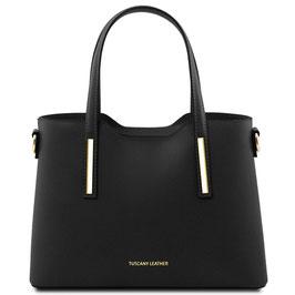 Tuscany Leather Olimpia Leather Handbag Black